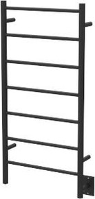 "Amba FSMB Jeeves Model F Straight Towel Warmer - 20-1/2"" W x 41"" H x 4-1/2"" D - Matte Black"