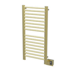 "Amba  Sirio S2142SB Towel Warmer & Space Heater - 24"" W x 44"" H x 4 3/4"" D - Satin Brass"