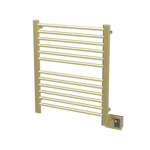 "Amba  Sirio S2933SB Towel Warmer & Space Heater - 32"" W x 35"" H x 4 3/4"" D - Satin Brass"