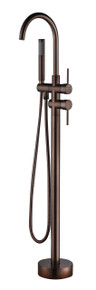 Vanity Art VA2012-ORB Freestanding Tub Filler Faucet with Hand Shower - Oil Rubbed Bronze