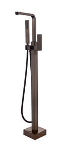 Vanity Art VA2016-ORB Freestanding Tub Filler Faucet with Hand Shower - Oil Rubbed Bronze