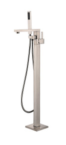 Vanity Art VA2011-BN Freestanding Tub Filler Faucet with Hand Shower - Brushed Nickel