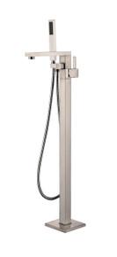 Vanity Art VA2011-BN Freestanding Tub Filler Faucet with Hand Shower - Brushed Nickel