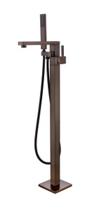Vanity Art VA2011-ORB Freestanding Tub Filler Faucet with Hand Shower - Oil Rubbed Bronze