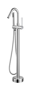 Vanity Art VA2034-PC Freestanding Tub Filler Faucet with Hand Shower - Polished Chrome