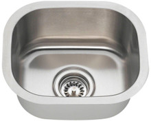 Polaris P2151-16 Stainless Undermount Bar Sink 15 in. x 12 3/4 in. - Brushed Satin