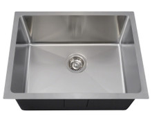 "Polaris P3281 Stainless Steel 3/4"" Radius Kitchen Sink 23 in. x 17 7/8 in. x 9 in. - Brushed Satin"