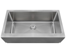 Polaris P504 Single Bowl Stainless Steel Apron Sink 32 in. - Brushed Satin