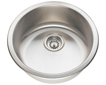 Polaris P564-16 Round Dual Mount 18 in. Stainless Steel Bar Sink - Brushed Satin