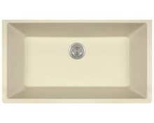 Polaris P848BE Large Undermount AstraGranite Kitchen Sink - Matte Beige, 32 5/8 in. W