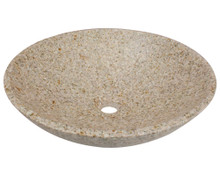 Polaris P058TN Natural Granite Bathroom Vessel Sink - Hand Polished, 16 1/2 in.