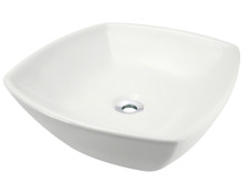 Polaris P2081VB Bisque Porcelain Vessel Sink - Triple Glazed - 16 1/2 in.