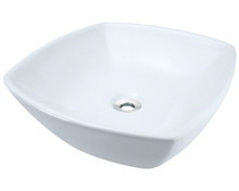 Polaris P2081VW White Porcelain Vessel Sink - Triple Glazed - 16 1/2 in.