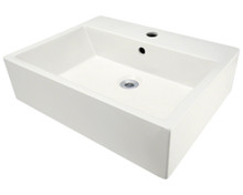 Polaris P2052VB Bisque Porcelain Vessel Sink - 21 inch