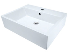 Polaris P2052VW White Porcelain Vessel Sink - 21 inch