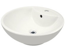 Polaris P2072VB Bisque Porcelain Vessel Sink - 18 1/2 inch