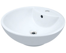 Polaris P2072VW White  Porcelain Vessel Sink - 18 1/2 inch