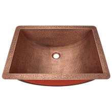 Polaris P629 Single Bowl Undermount Copper Sink 20 1/2 in.  - Hammered Copper