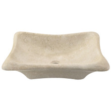 Polaris P768 Galaga Beige Marble Vessel Sink - Hand Polished