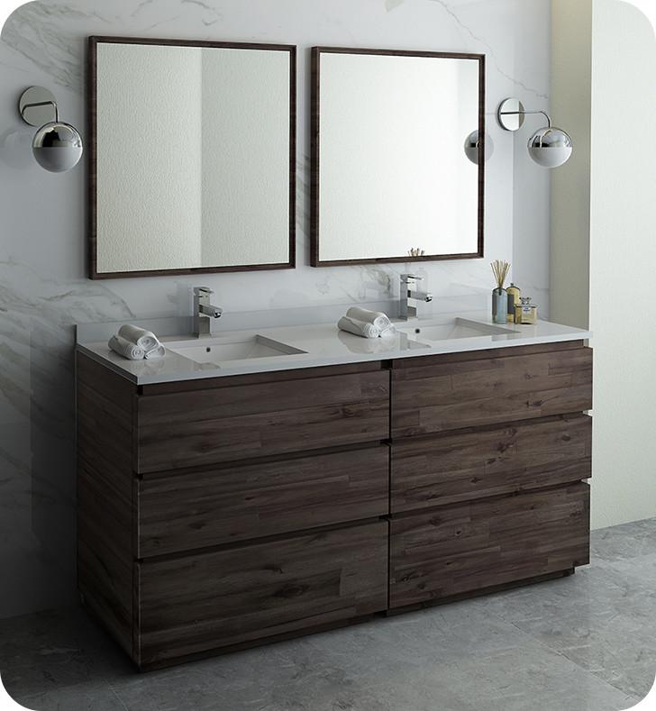Strange Fresca Fvn31 3636Aca Fc Formosa 72 Floor Standing Double Sink Modern Bathroom Vanity W Mirrors Acacia Wood Download Free Architecture Designs Xoliawazosbritishbridgeorg