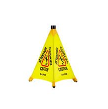 """Alpine 498-20 20 """" Pop-Up Wet Floor Sign - Yellow"""
