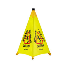 "Alpine 498-30 30"" Pop-Up Wet Floor Sign - Yellow"