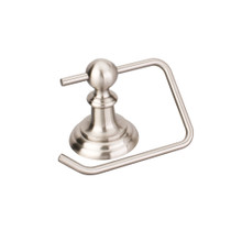 Hardware Resources BHE5-07SN Fairview Euro Toilet Tissue Paper Holder - Satin Nickel