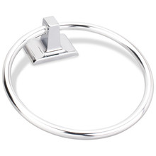 Hardware Resources BHE1-06PC-R Bridgeport Towel Ring - Polished Chrome