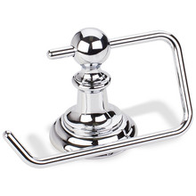 Hardware Resources BHE5-07PC-R Fairview Euro Toilet Tissue Paper Holder - Polished Chrome