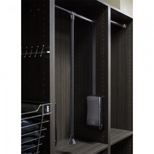 Hardware Resources 1523-BLK Black Powder Coat 25-1/2 Inch - 35 Inch Expanding Wardrobe Lift