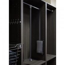 Hardware Resources 1523-BLK Black Powder Coat 25-1/2 Inch - 35 Inch Expanding Wardrobe Lift