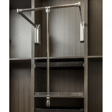 Hardware Resources 1523SC-PC Polished Chrome Soft-close 25-1/2 Inch - 35 Inch Expanding Wardrobe Lift
