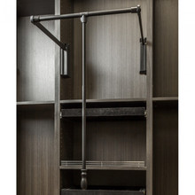 Hardware Resources 1532SC-BLK Black Powder Coat Soft-close 33 Inch - 48 Inch Expanding Wardrobe Lift