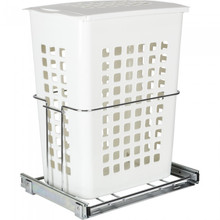 Hardware Resources HP-BM1424WPC Plastic Pullout Hamper with Lid