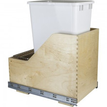 Hardware Resources CAN-WBMS50WH Preassembled 50 Quart Single Pullout Waste Container System