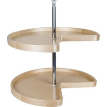 Hardware Resources BLSK232-SET 32 Inch Kidney Banded Lazy Susan Set with Twist and Lock Adjustable Pole