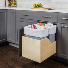 Hardware Resources CAN-WBMD35G Preassembled 35 Quart Double Pullout Waste Container System