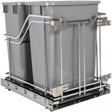 Hardware Resources SWS-MBMD35GPC Polished Chrome Trashcan Pullout with Soft-close Slides