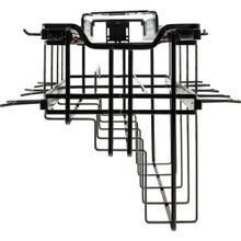 Hardware Resources SWS-PO21BN Hanging Pan Organizer with Lid Storage Black Nickel Finish
