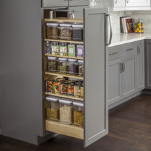 Hardware Resources PPO2-1160 Wood Pantry Cabinet Pullout 11-1/2 Inch x 22-1/4 Inch x 60 Inch