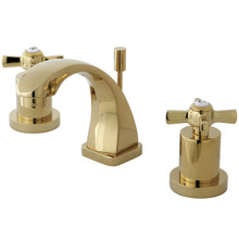 Kingston Brass KS4942ZX Two Handle Mini Widespread Lavatory Faucet - Polished Brass