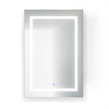 Krugg Svange 2436L LED Mirror Medicine Cabinet 24 Inch W x 36 Inch w/Dimmer & Defogger - Left Hinged