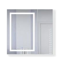 Krugg Svange 3636L LED Mirror Medicine Cabinet 36 Inch W x 36 Inch w/Dimmer & Defogger - Left Hinged