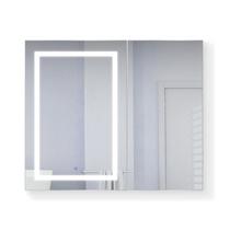Krugg Svange 4236L LED Mirror Medicine Cabinet 42 Inch W x 36 Inch w/Dimmer & Defogger - Left Hinged - Left Hinged