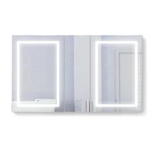 Krugg Svange6036DLRR 3 Door Mirror Medicine Cabinet 60 Inch W x 36 Inch w/Dimmer & Defogger - Right Hinge on Middle Door