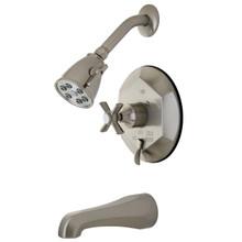 Kingston Brass VB46380ZX Single Handle Tub & Shower Faucet - Satin Nickel