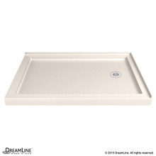 DreamLine DLT-1036482-22 SlimLine 36 in. D x 48 in. W x 2 3/4 in. H Right Drain Double Threshold Shower Base in Biscuit