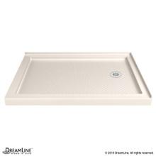 DreamLine DLT-1036482-22 SlimLine 36 in. D x 48 in. W x 2 3/4 in. H Right Drain Double Threshold Shower Base in Biscuit