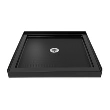 DreamLine DLT-1132320-88 SlimLine 32 in. D x 32 in. W x 2 3/4 in. H Center Drain Single Threshold Shower Base in Black
