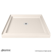 DreamLine DLT-1136360-22 SlimLine 36 in. D x 36 in. W x 2 3/4 in. H Center Drain Single Threshold Shower Base in Biscuit